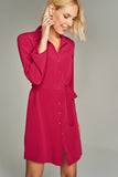 4510249 Fuschia Shirt Dress