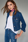 3510225 Blue Short Denim Jacket