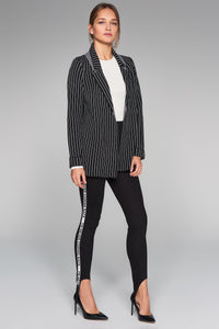 3510220 Black Stripe Knit Jacket