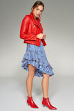 2910088 Blue Check Skirt