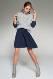2910090 Navy Blue Full Mini Skirt