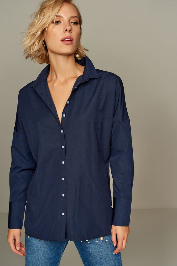 3010044 Navy Blue Long Sleeve Shirt