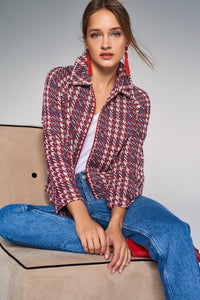 3510234 Red Pearl Detail Jacket