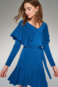 1210219 Blue Tiered Dress