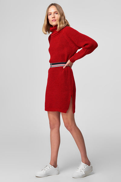 1210308 Red Knitted Dress