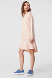 1210314 Powder Knitted Hi-Low Dress
