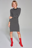 4510279 Black Striped Dress