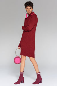 4510287 Bordeaux Sweater Dress