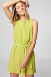 5212091 Green Sleeveless Playsuit