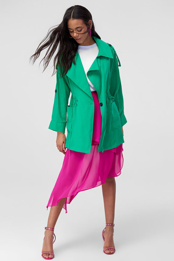 3550018 Green Trench Coat