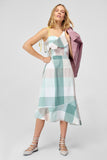 1210460 Multi Colour One Shoulder Hi Low Dress