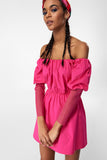 1210348 Pink Juliet Sleeve Dress