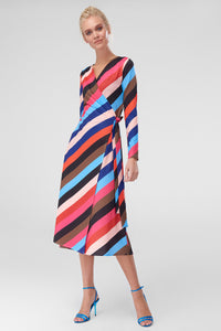 4510785 Multi Colour Knitted Wrap Dress