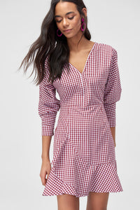 4510878 Red Check Dress