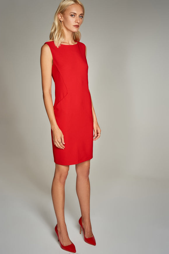 4510300 Red Sheath Dress