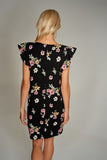 4510309 Black Floral Shift Dress