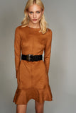 4510328 Camel Suede Dress