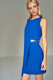 4510333 Blue Wrap Detail Dress