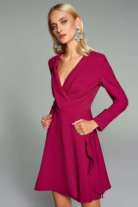 4510343 Bordeaux Wrap Dress