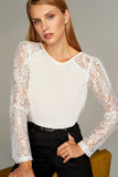 3020197 White Lace Blouse