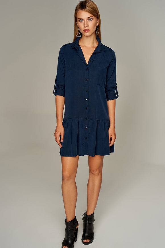4510381 Navy Blue Shirt Dress
