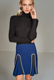 2910099 Blue Pleated Skirt