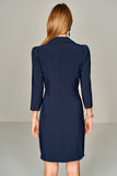 4510397 Navy Blue Double Breasted Dress