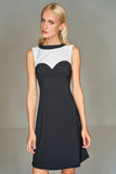 4510399 Black & White Skater Dress