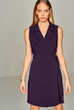 4510406 Purple Italian Collar Dress