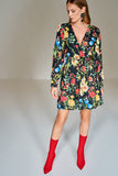 4510435 Multi Colour Wrap Dress