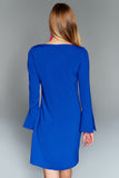 4510463 Blue Volan Sleeve Dress
