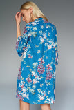 1210182 Blue Flower Pattern Dress