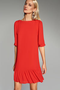 4510474 Red Tiered Dress