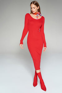 4510526 Red Sweater Dress