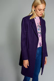 3550161 Purple Single Button Coat