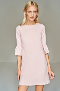 4510551 Powder Frill Sleeve Dress