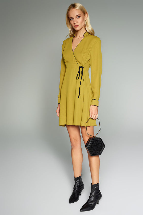 4510592 Green Collar Dress