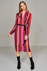 4510601 Multi-Coloured Striped Shirt Dress