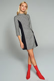 4510618 Black-Grey Plaid Dress