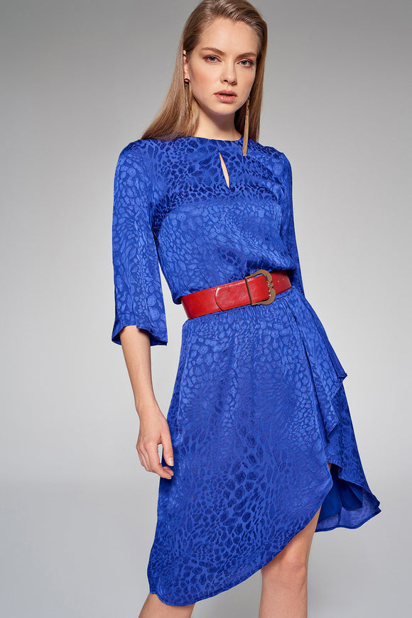 4510627 Blue Pattern Dress