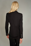 3510226 Black Button Detailed Jacket