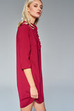4510684 Fuschia Frill Collar Dress
