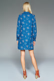 4510693 Blue Pattern Shift Dress