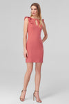 4510976 Salmon Cut-Out Chest Dress