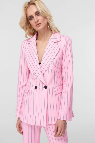 4688016 Pink Striped Jacket