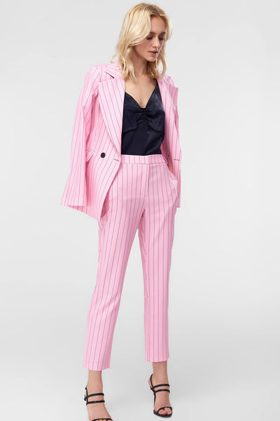 4688016 Pink Striped Cigarette Trousers