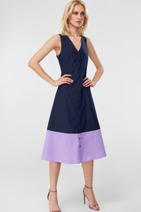 4510772 Navy Blue Midi Dress