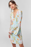 1210388 Multi Colour Bell Sleeve Dress