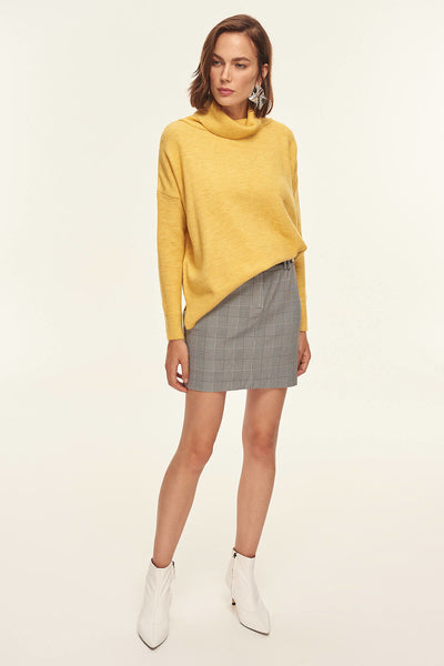 4688010 Grey Plaid Skirt