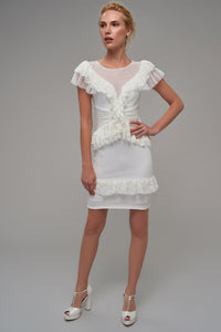 4610021 Off-White Frilly Dress